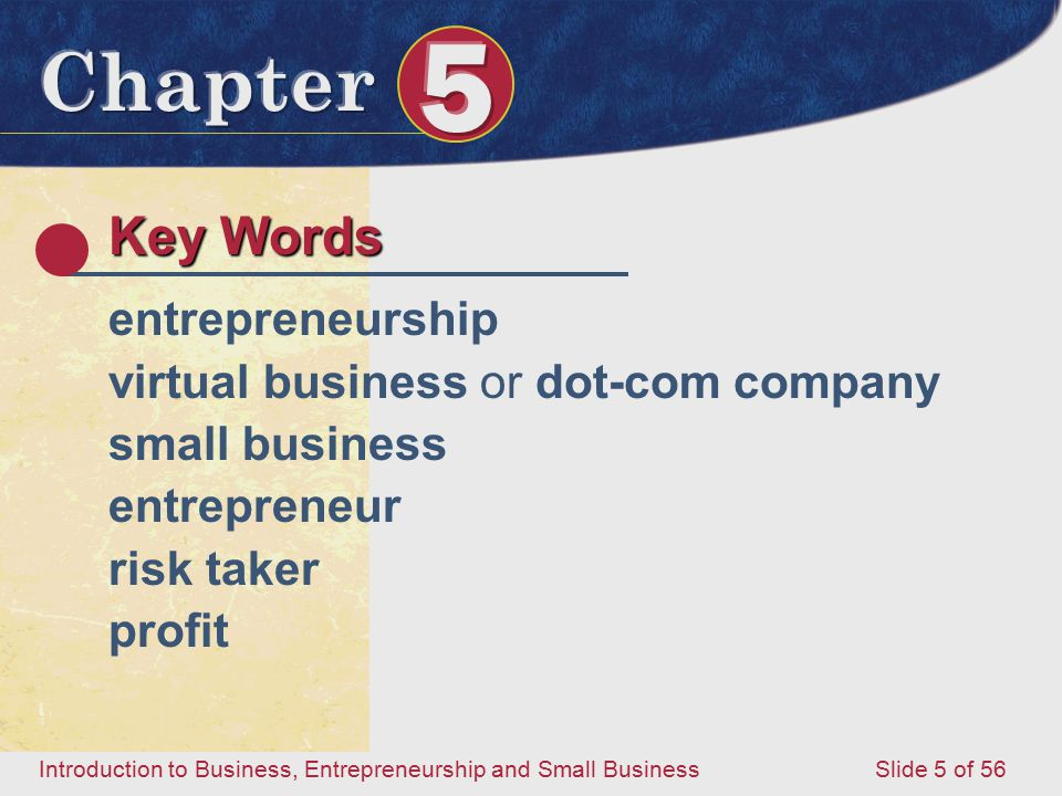 Key Words entrepreneurship virtual business or dot-com company