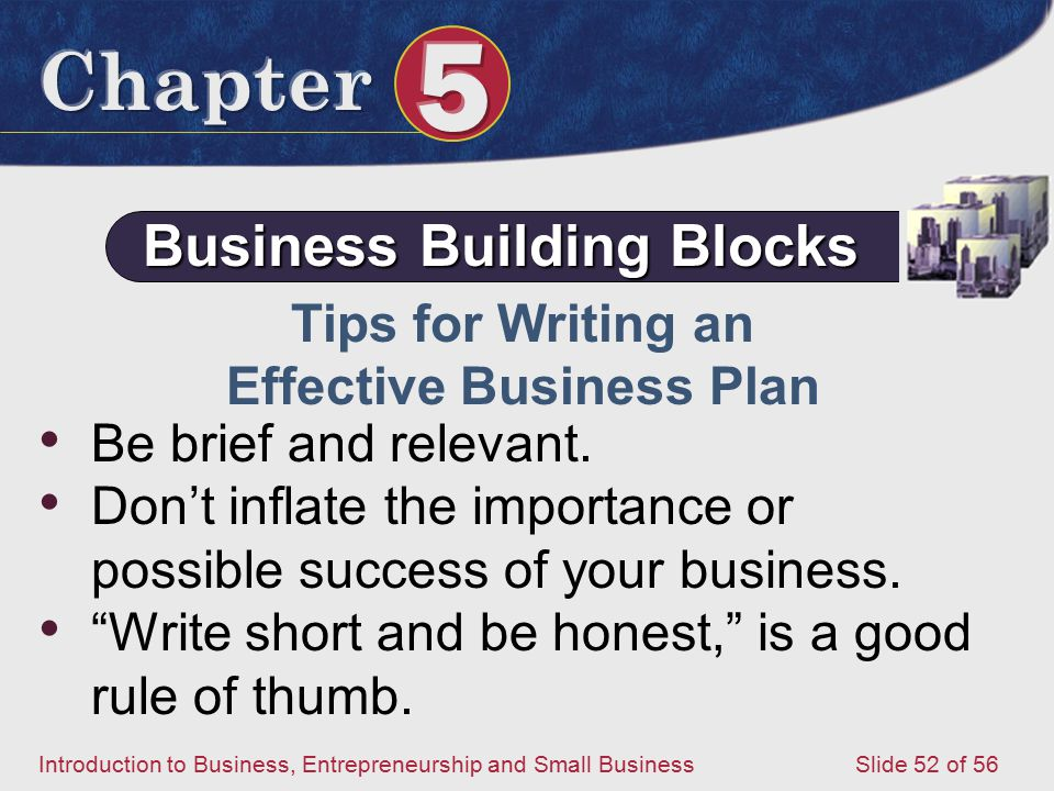 Business Building Blocks Effective Business Plan