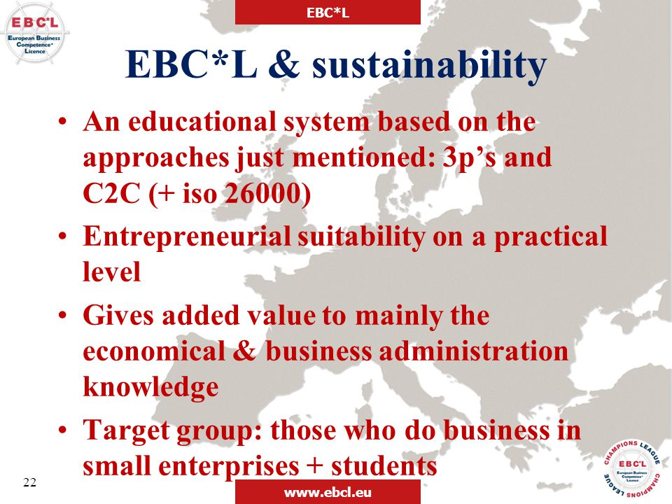 EBC*L & sustainability