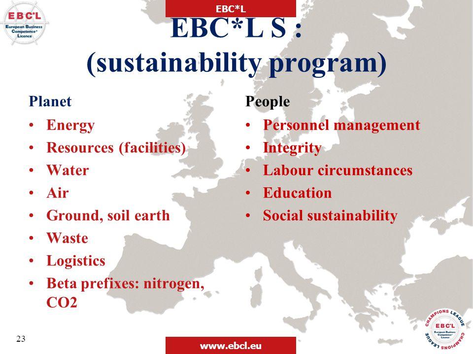 EBC*L S : (sustainability program)