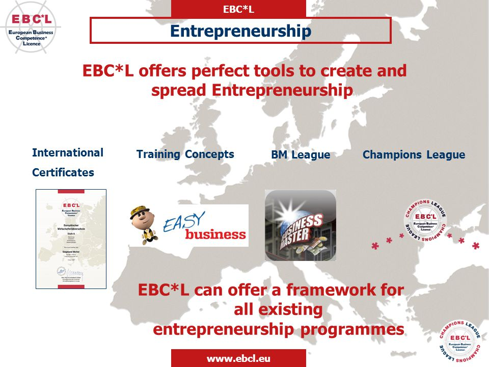 EBC*L offers perfect tools to create and spread Entrepreneurship