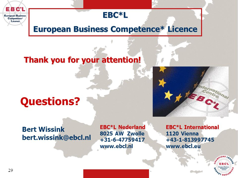 European Business Competence* Licence