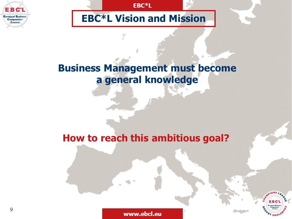 EBC*L Vision and Mission