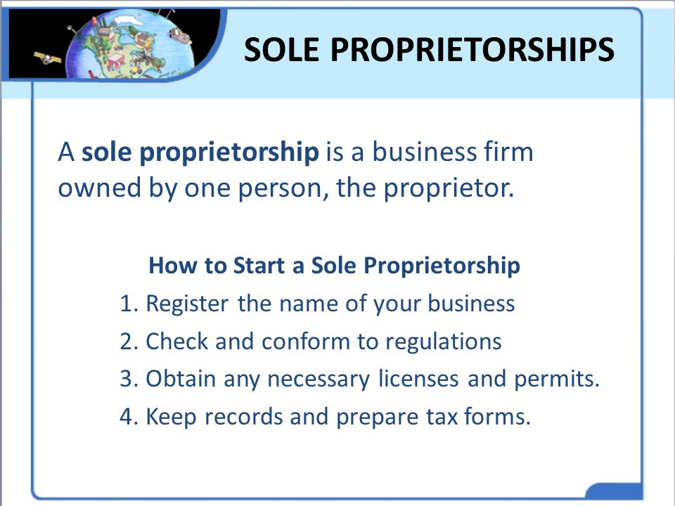 How to Start a Sole Proprietorship