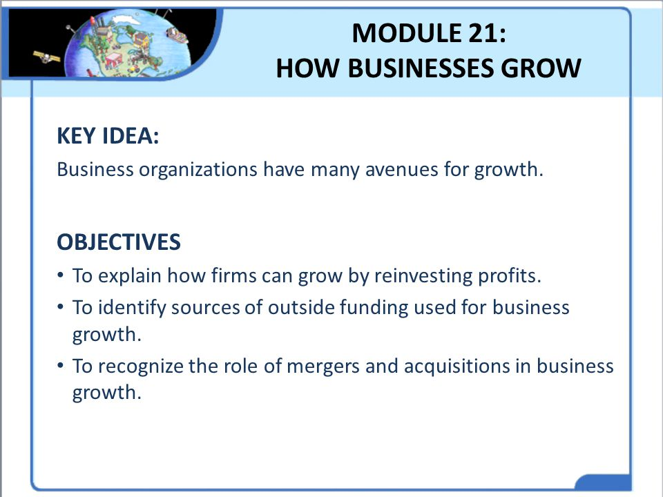 MODULE 21: HOW BUSINESSES GROW