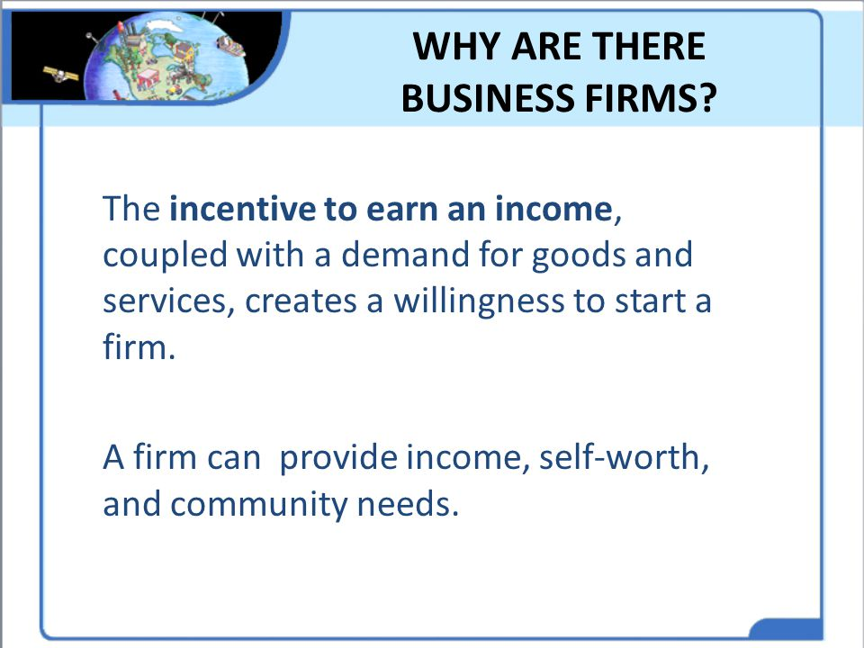 WHY ARE THERE BUSINESS FIRMS