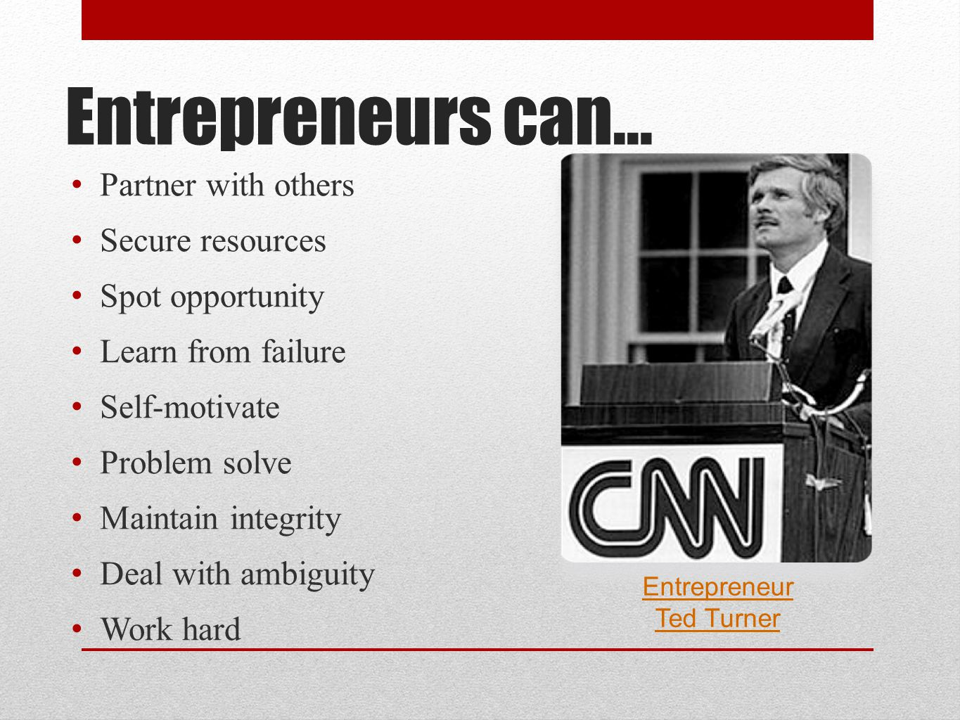 Entrepreneur Ted Turner