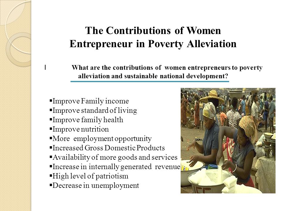 The Contributions of Women Entrepreneur in Poverty Alleviation