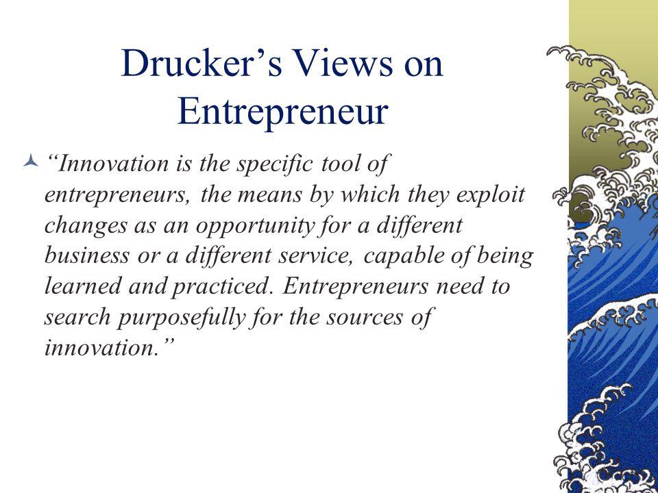 Drucker's Views on Entrepreneur