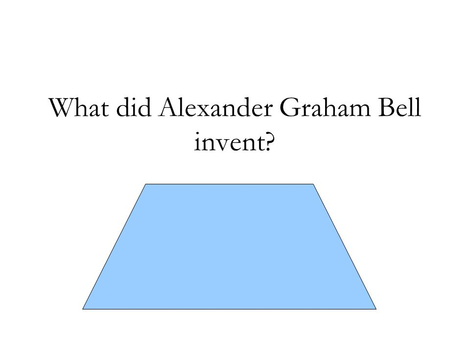 What did Alexander Graham Bell invent The first working telephone