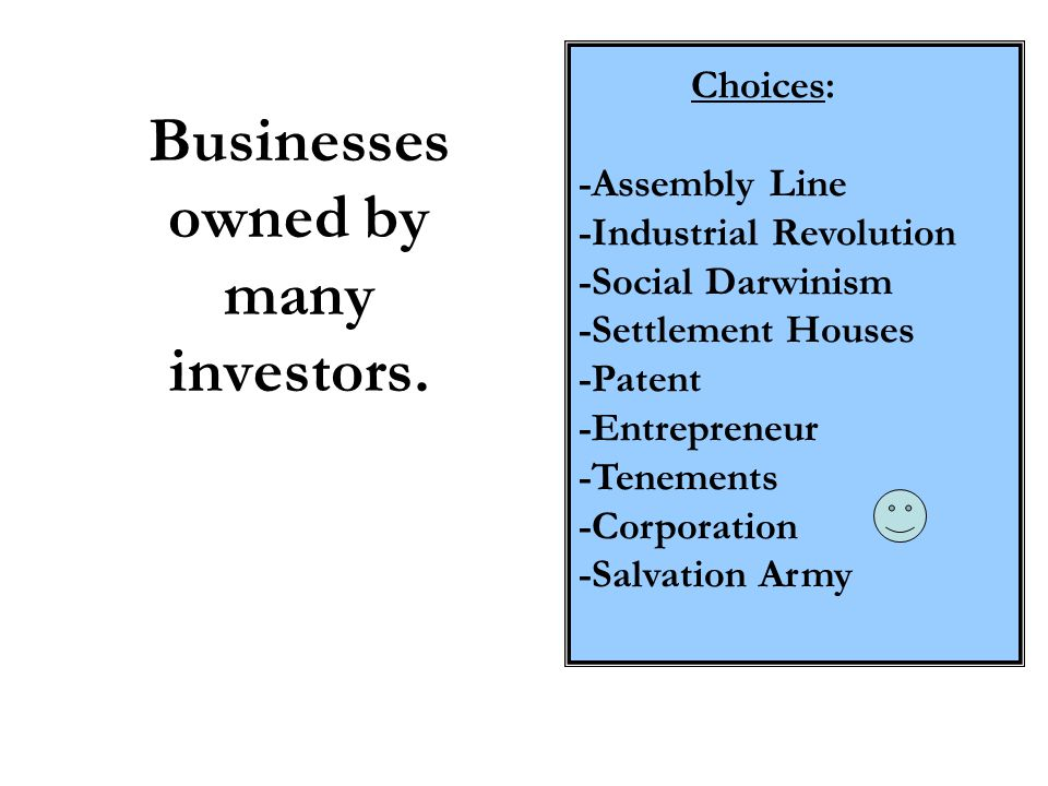 Businesses owned by many investors.