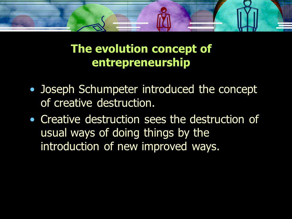 The evolution concept of entrepreneurship