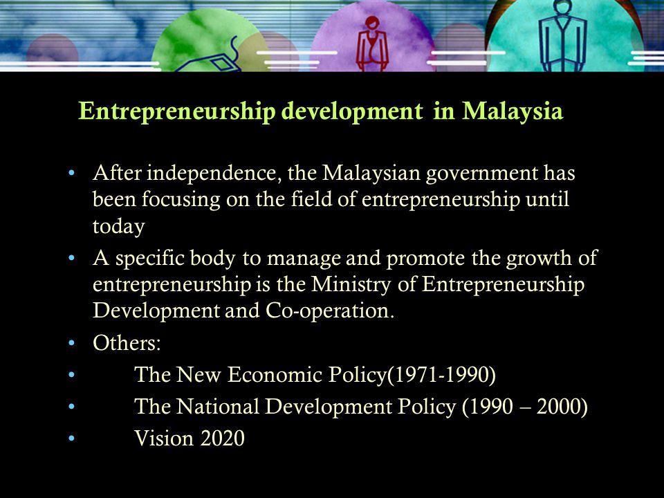 Entrepreneurship development in Malaysia