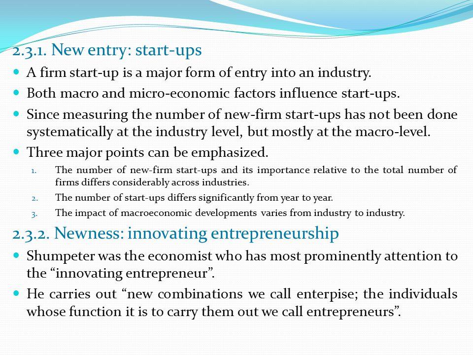 2.3.2. Newness: innovating entrepreneurship
