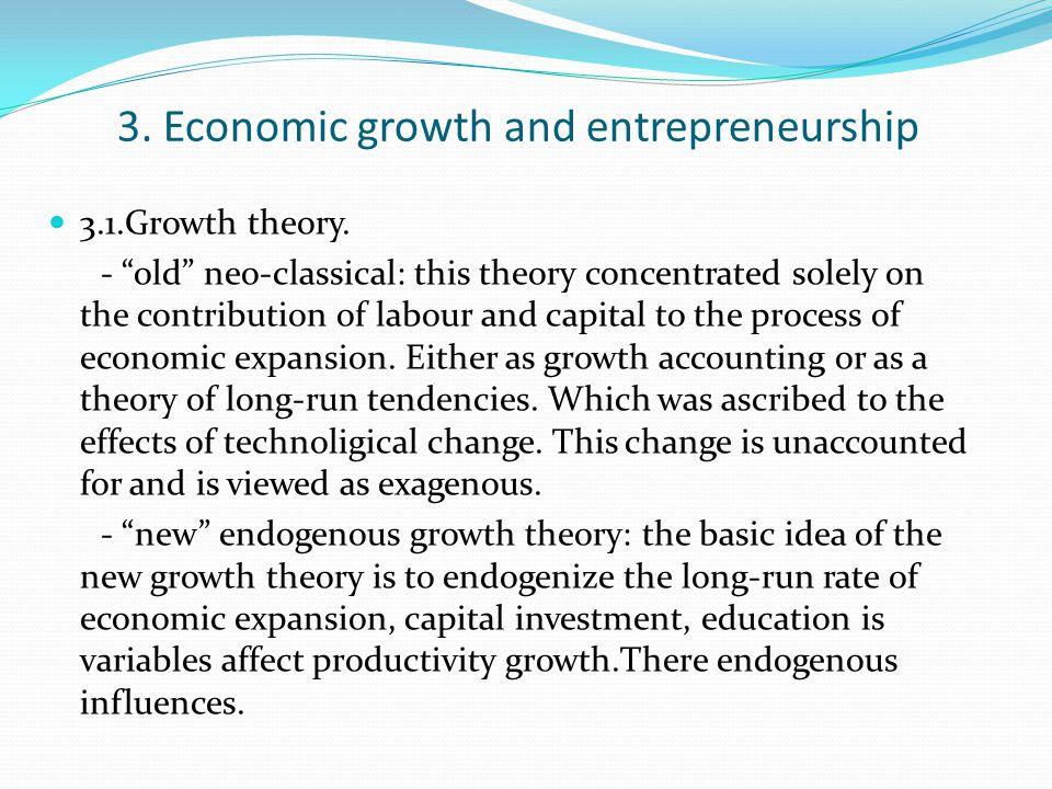 3. Economic growth and entrepreneurship