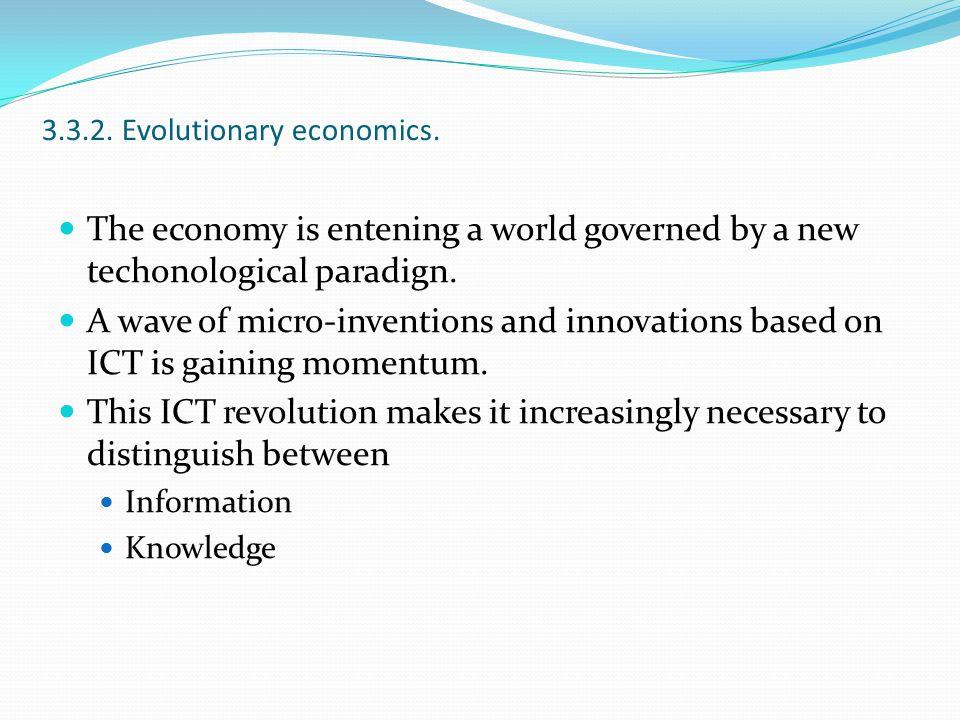 3.3.2. Evolutionary economics.