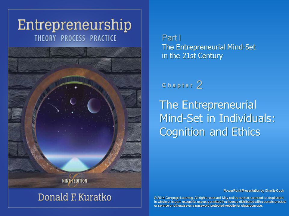 The Entrepreneurial Mind-Set in Individuals: Cognition and Ethics