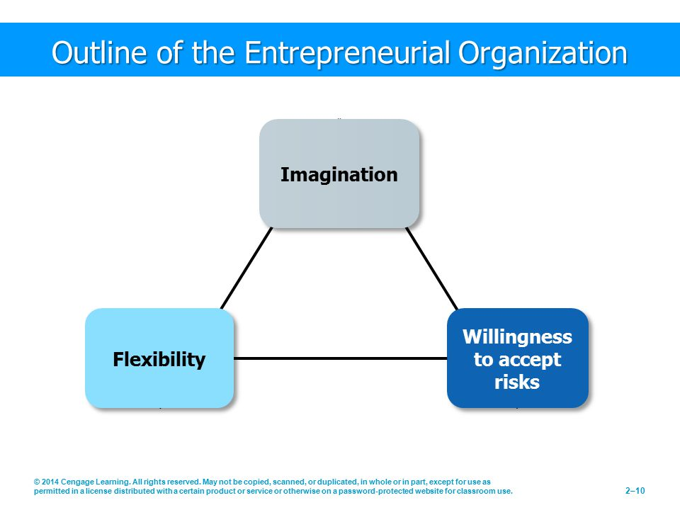 Outline of the Entrepreneurial Organization