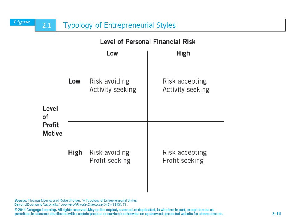 2.1 Typology of Entrepreneurial Styles