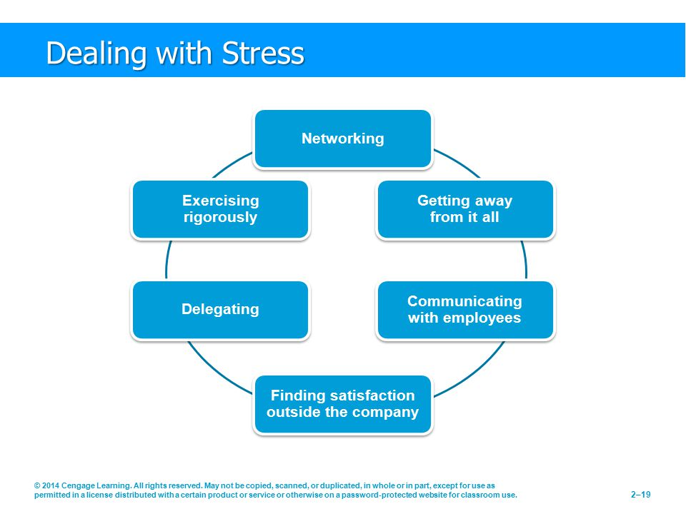 Dealing with Stress Networking Getting away from it all
