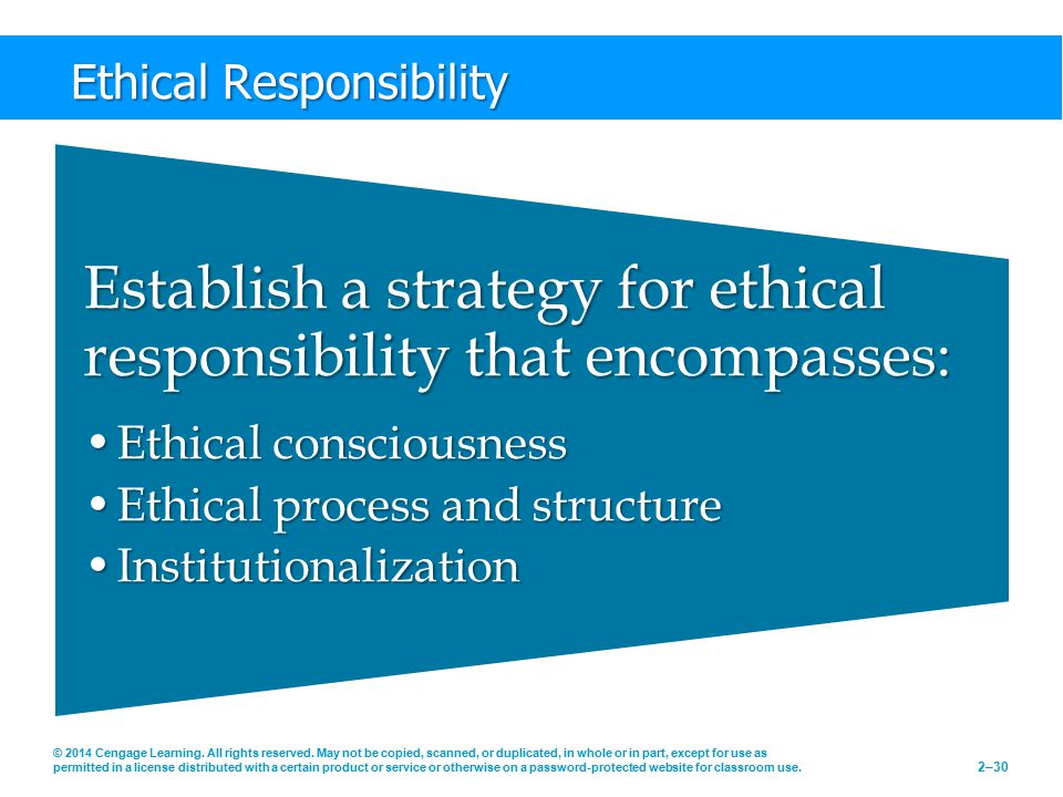 Ethical Responsibility