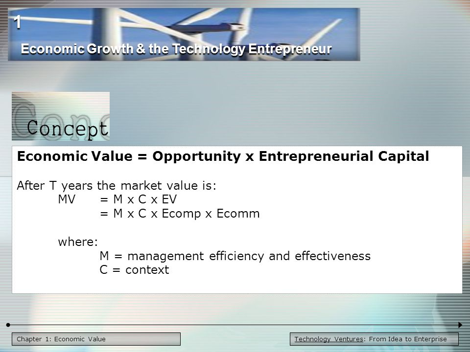 1 Economic Growth & the Technology Entrepreneur