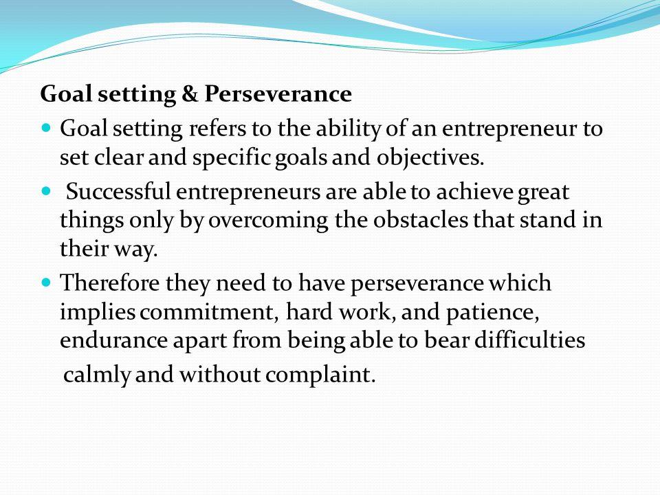 Goal setting & Perseverance