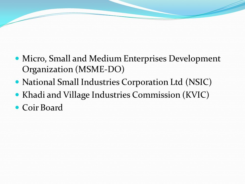Micro, Small and Medium Enterprises Development Organization (MSME-DO)