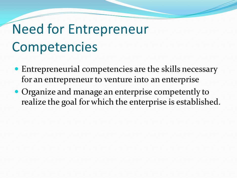 entrepreneurial competencies 2 journal of entrepreneurship and management volume 3 issue 3 october 2014 and a model of relationship between entrepreneurial competencies and firm performance.