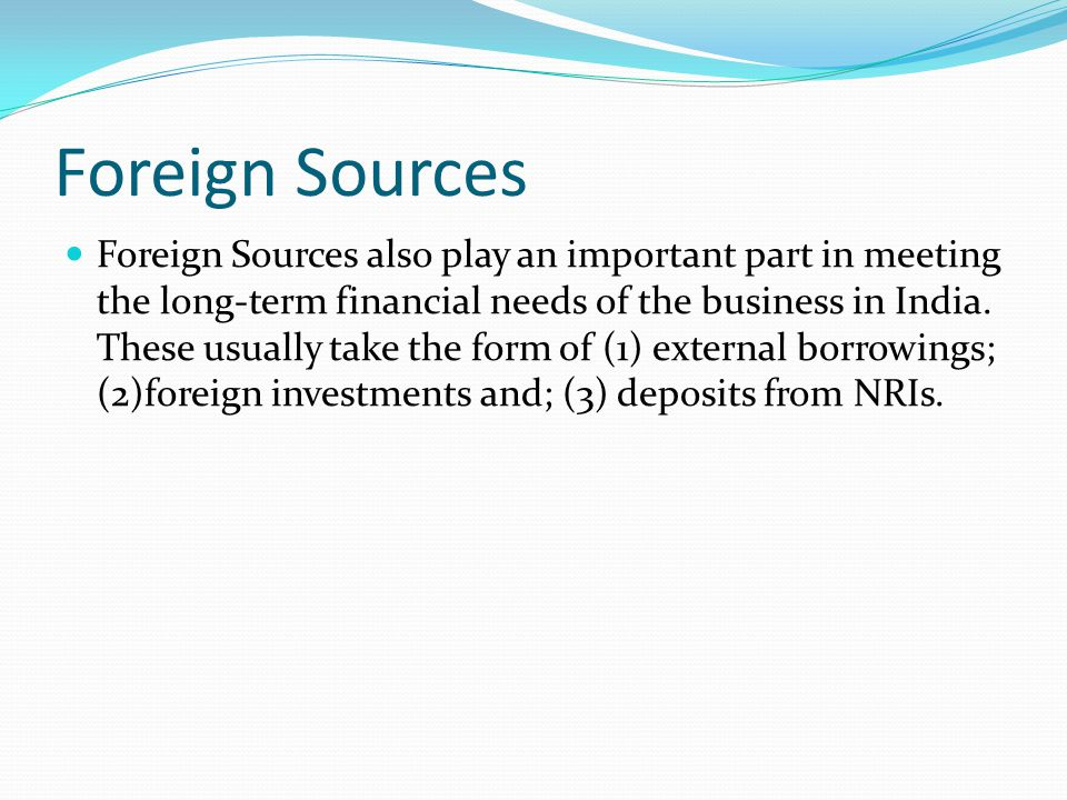 Foreign Sources