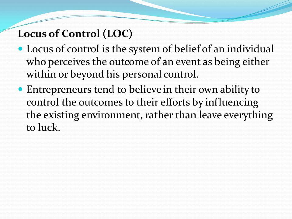 Locus of Control (LOC)