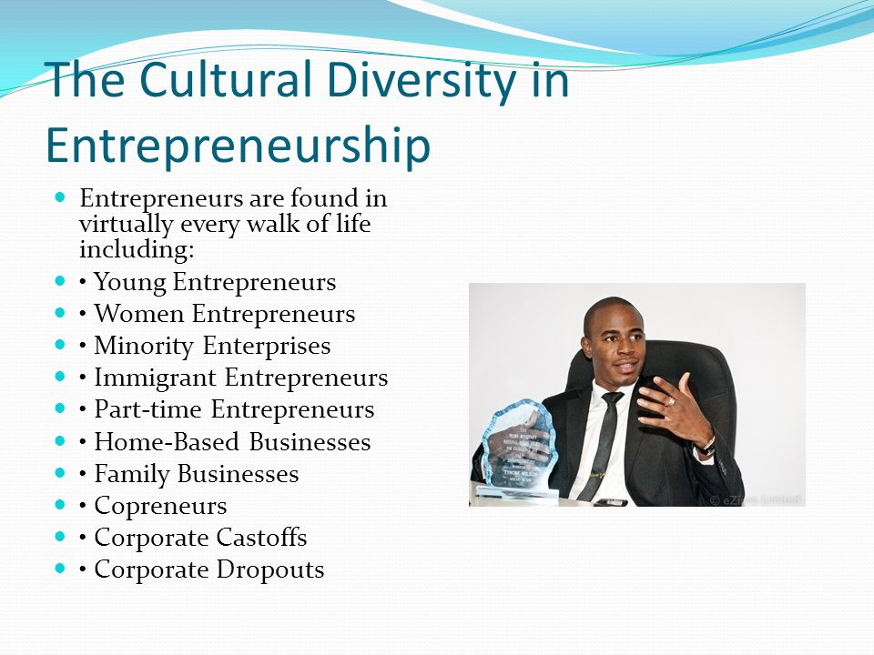 The Cultural Diversity in Entrepreneurship