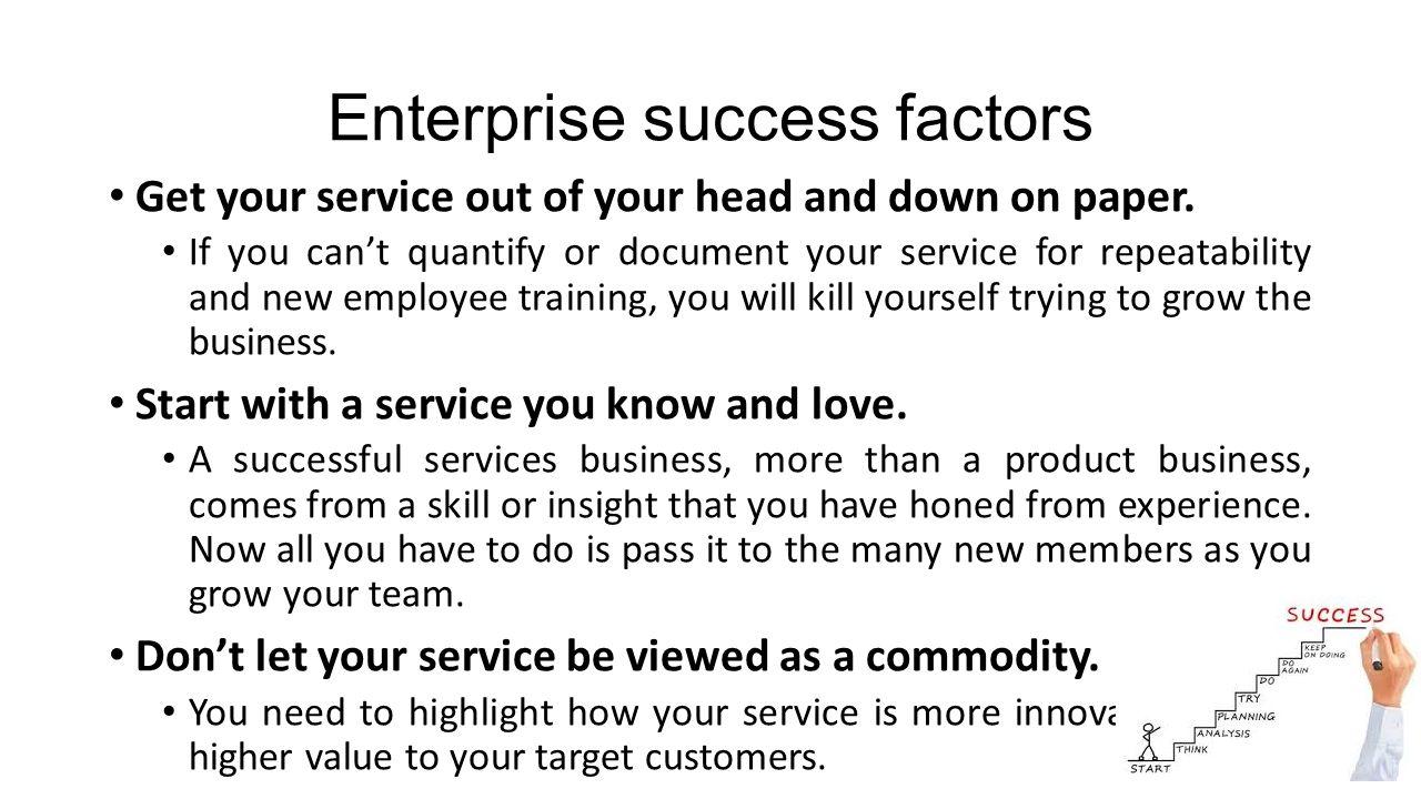 Enterprise success factors