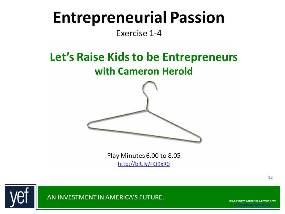 Entrepreneurial Passion Exercise 1-4
