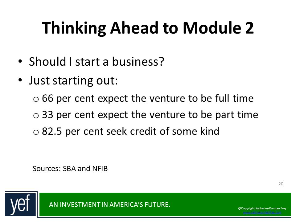 Thinking Ahead to Module 2
