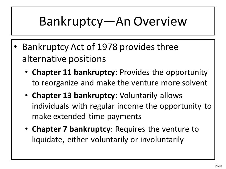 Bankruptcy—An Overview