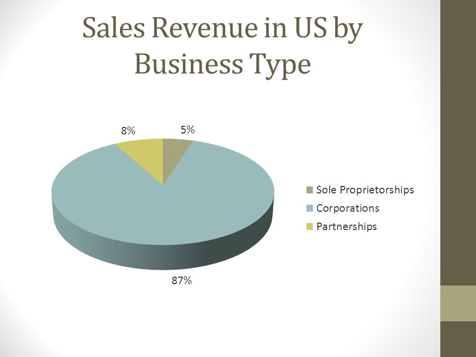 Sales Revenue in US by Business Type