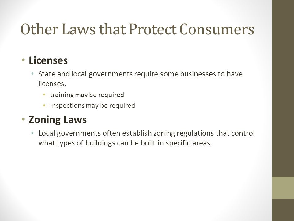 Other Laws that Protect Consumers