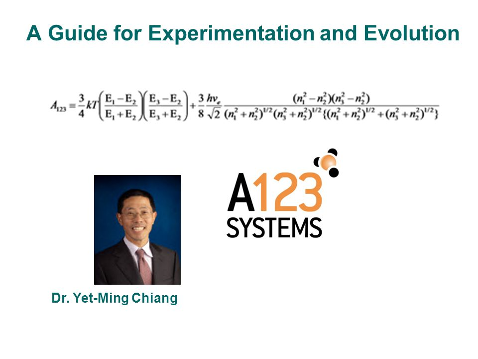 A Guide for Experimentation and Evolution