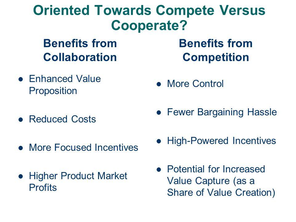 Oriented Towards Compete Versus Cooperate