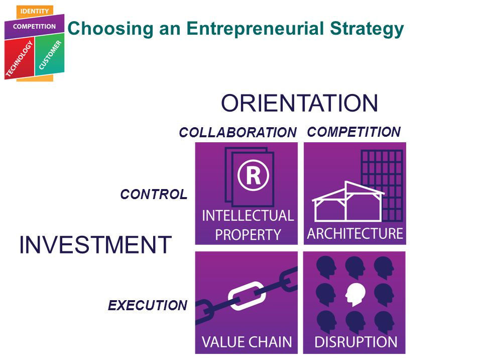 Choosing an Entrepreneurial Strategy Entrepreneurial Strategy