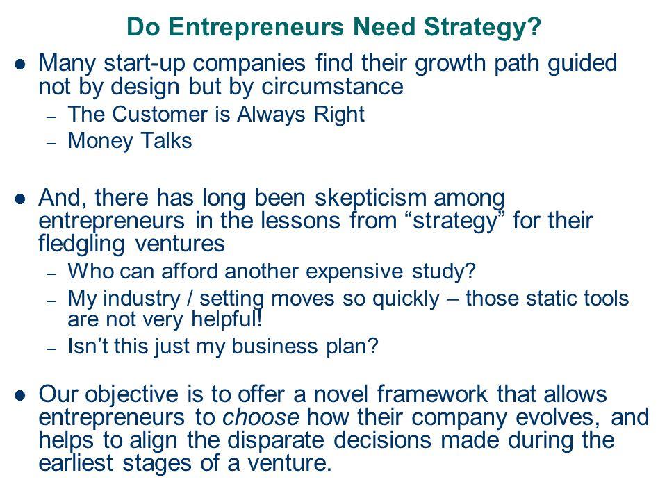 Do Entrepreneurs Need Strategy