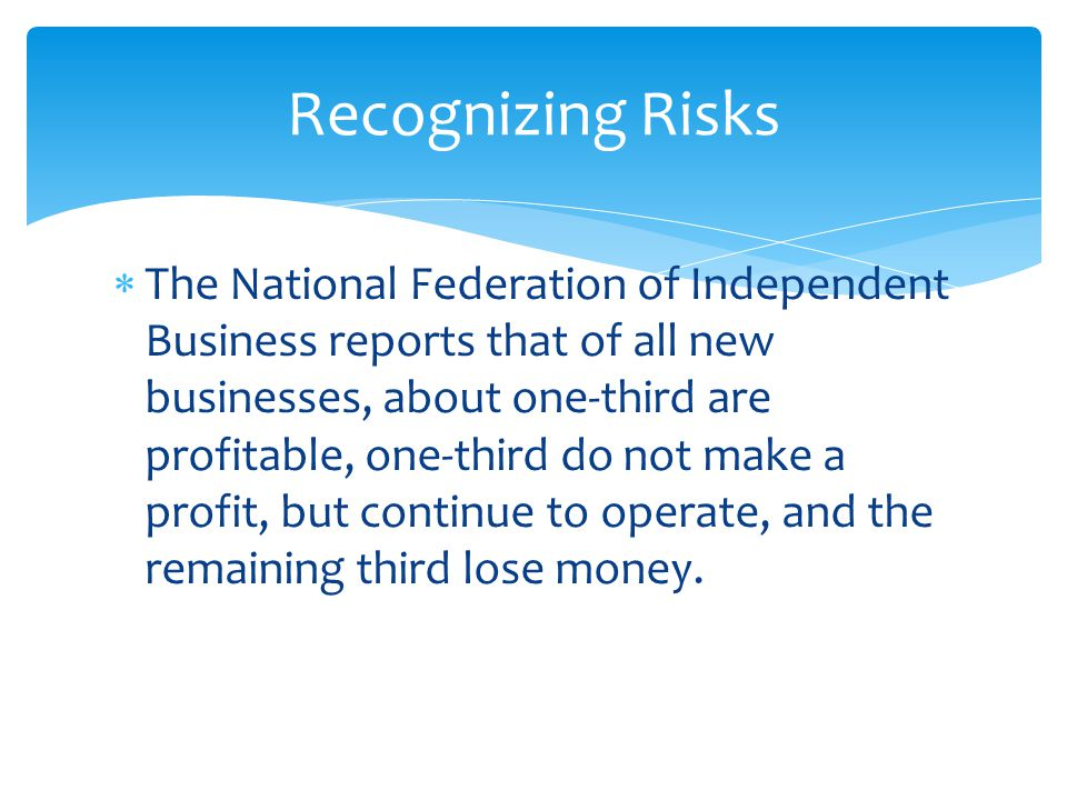 Recognizing Risks