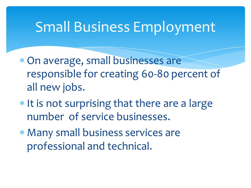 Small Business Employment