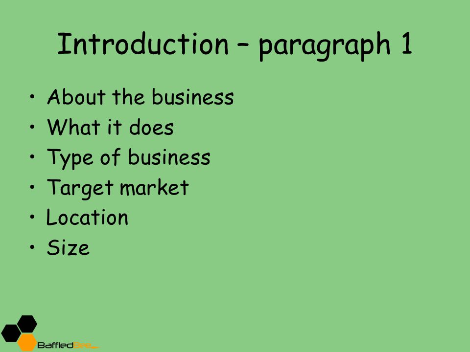 Introduction – paragraph 1