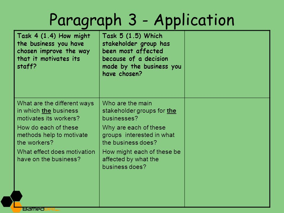 Paragraph 3 - Application