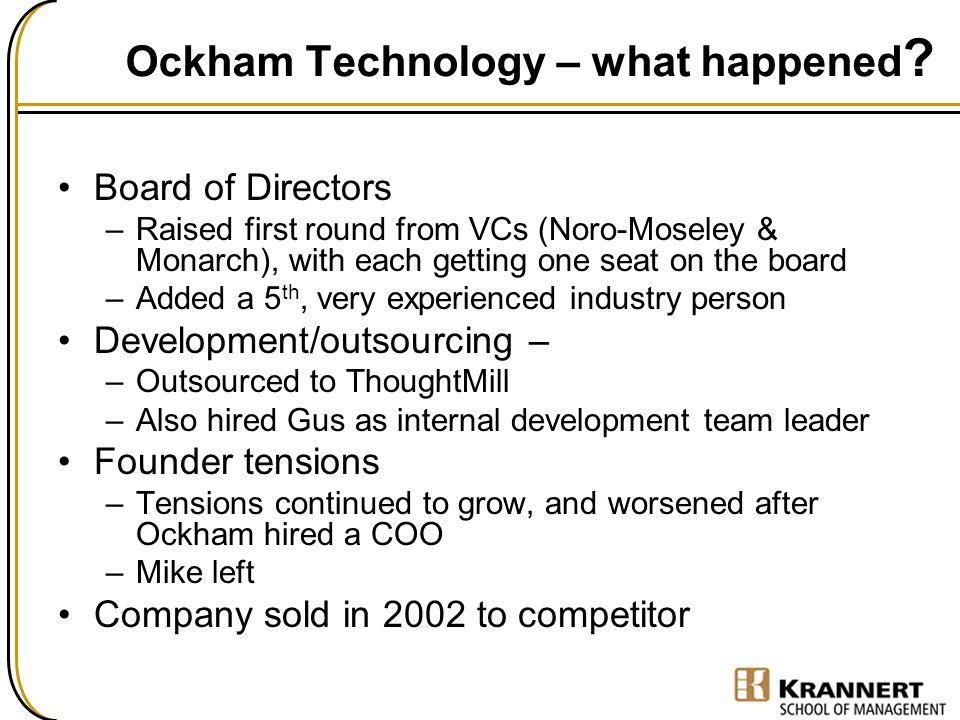 Ockham Technology – what happened