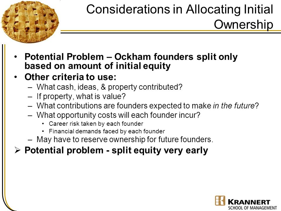 Considerations in Allocating Initial Ownership
