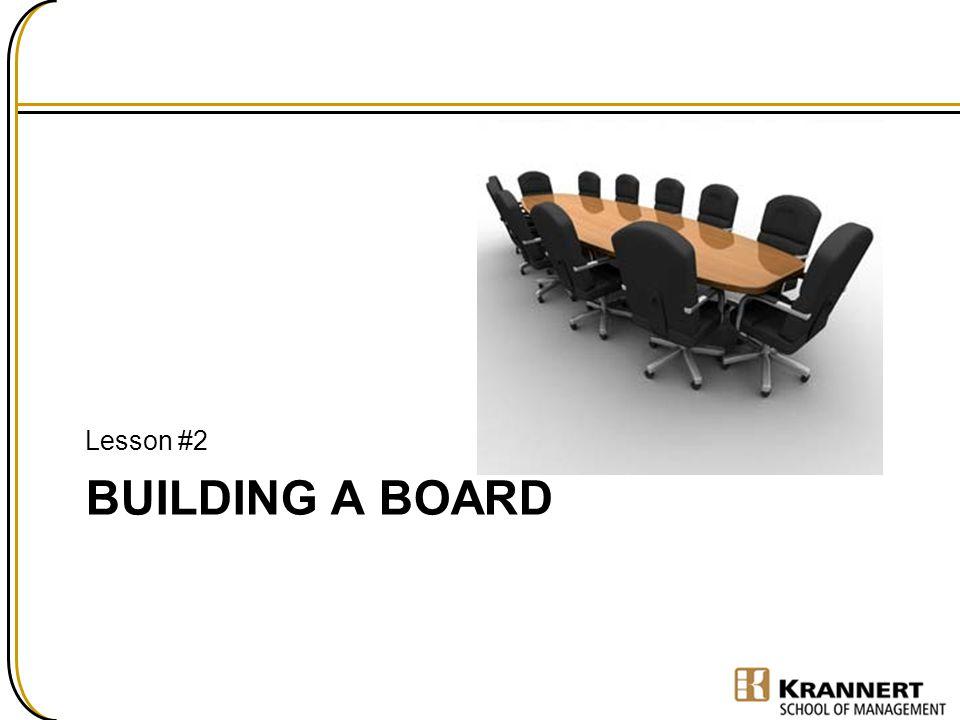 Lesson #2 Building a Board