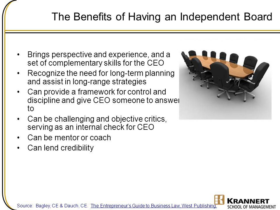 The Benefits of Having an Independent Board
